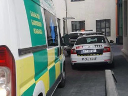 საპატრულო პოლიციისა და სასწრაფო დახმარების ეკიპაჟი Exclusivetv.ge